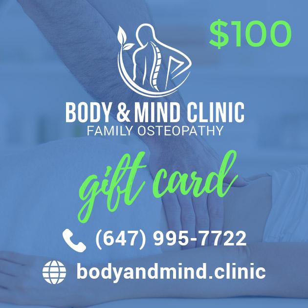Osteopathy Massage Gift Card 100