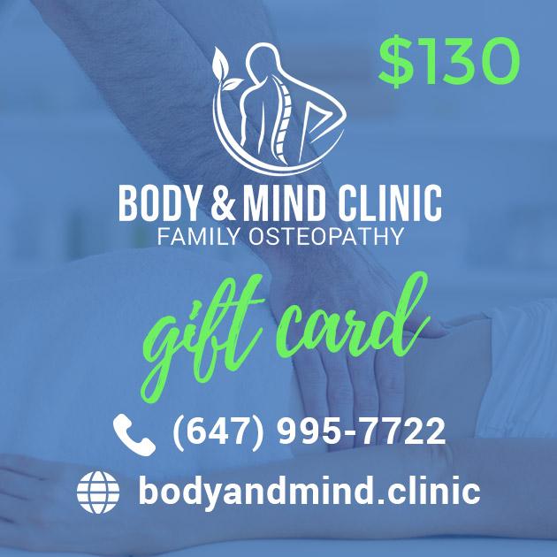 Osteopathy Massage Gift Card 130