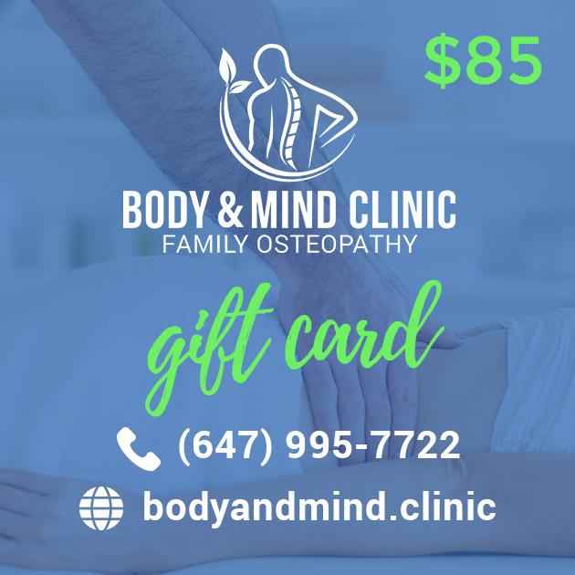 Osteopathy Massage Gift Card 85